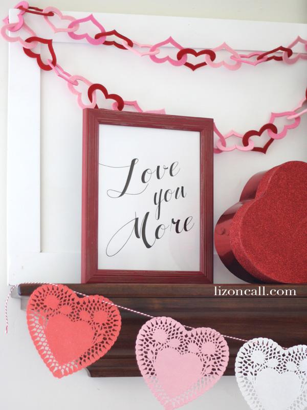 Valentines Mantel 3