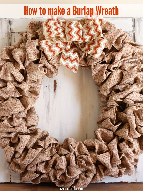 How to make a burlap wreath liz on call for What to make with burlap