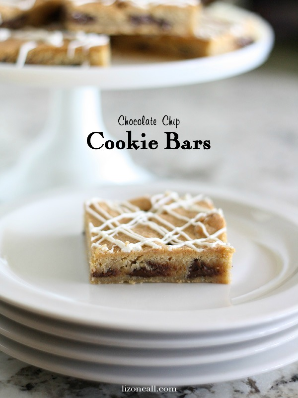 chocolate chip cookie bar recipe - this is a crowd pleaser! - lizoncall.com