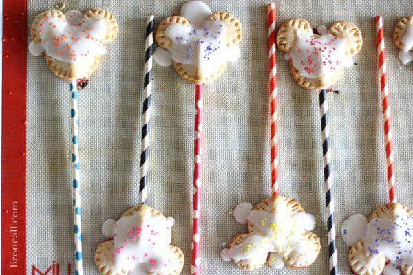 homemade Mickey Mouse Pop Tarts - fun for a Disney themed breakfast
