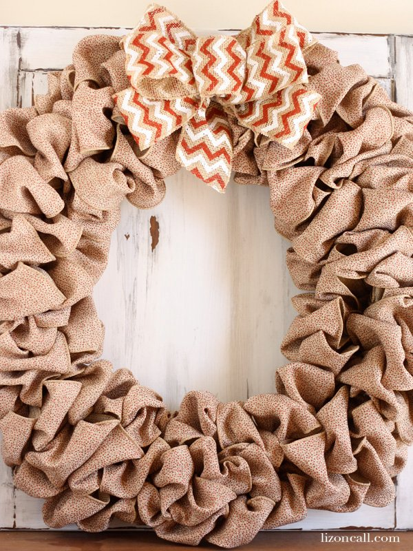 How to make a burlap wreath liz on call for How to use burlap ribbon