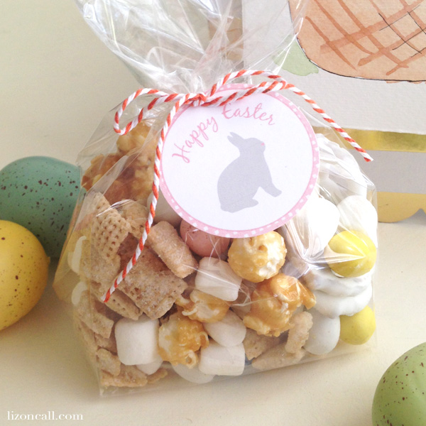 Happy Easter gift tags to attach to any gift or basket - lizoncall.com