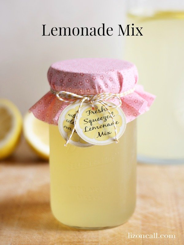 Fresh lemonade mix concentrate. All you have to do is add 1 gallon of water. makes a great gift - lizoncall.com