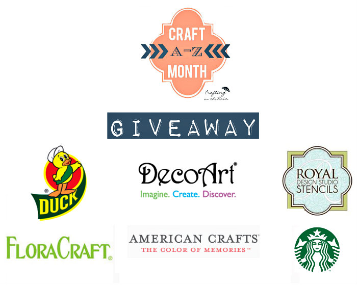 Craft month A to Z giveaway