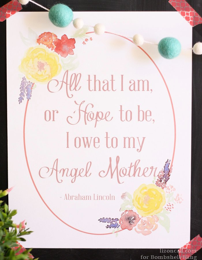 Angel Mother Abraham Lincoln Quote Printable Fascinating A Mothers Love Quotes 2