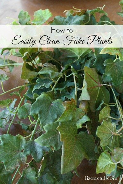 how to easily clean fake plants