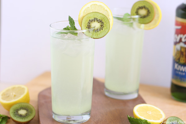 kiwi mint lemonade recipe - unique twist on a classic drink for those summer BBQs