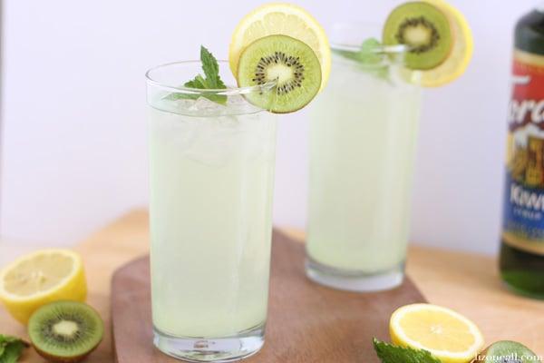 kiwi mint lemonade recipe - unique twist on a classic drink for those summer BBQs