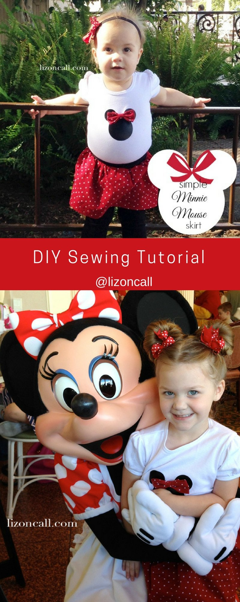Sew up a cute Minnie Mouse skirt with this Simple minnie mouse skirt DIY tutorial