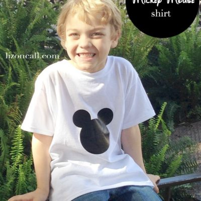 Easy Mickey Mouse Shirt Tutorial