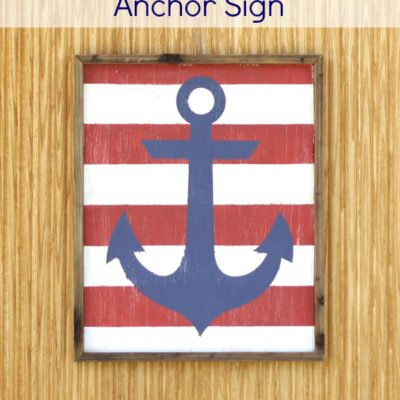 Painted Nautical Anchor Sign