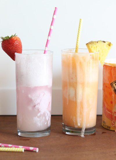 Fruity Ice Cream Floats