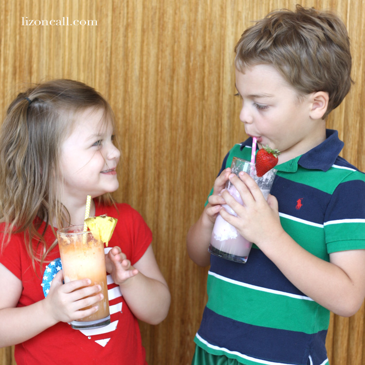 Fruity ice cream floats for a fun family summertime treat