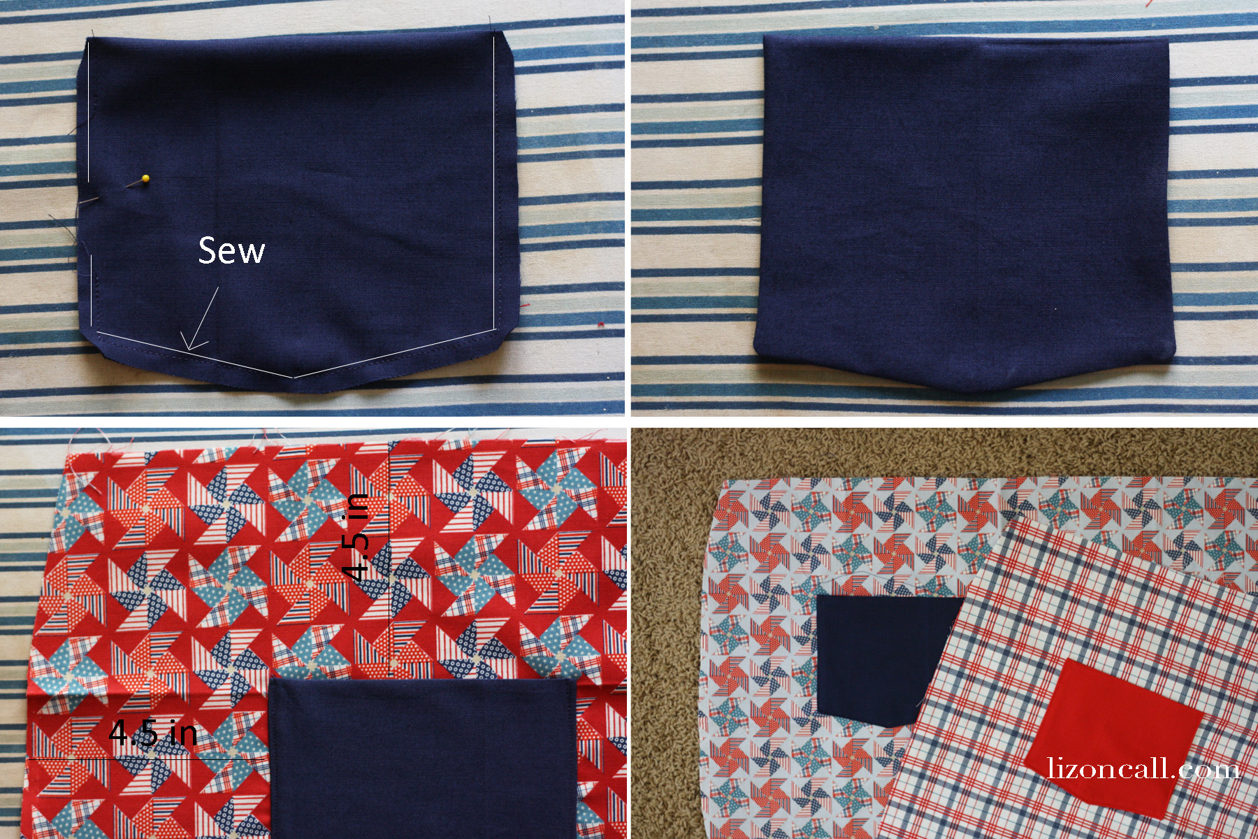 Reversible apron tutorial, uses just 3 fat quarters of fabric.