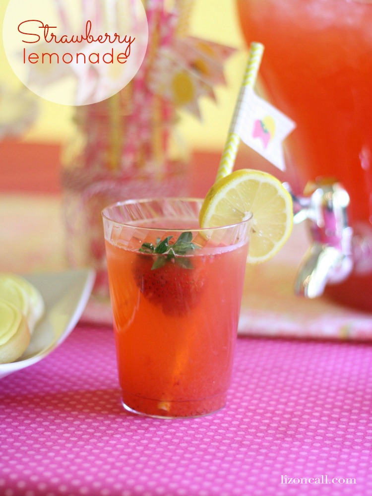 strawberry lemonade - a refreshing summer drink for your bbqs and parties