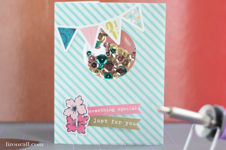 Confetti shaker card tutorial with gift card holder using the We R Memory Keepers photo fuse tool and fuse kit
