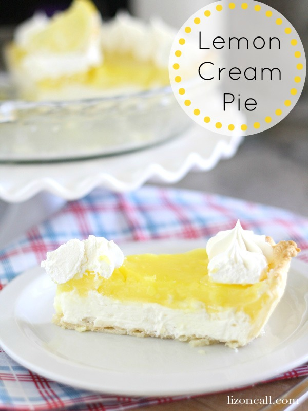 This lemon cream pie is the perfect blend of sweet and tart with a surprising creamy layer