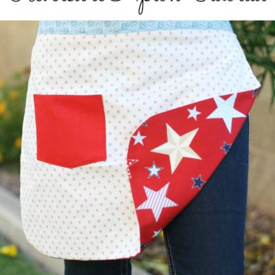 4th of July Reversible Apron tutorial