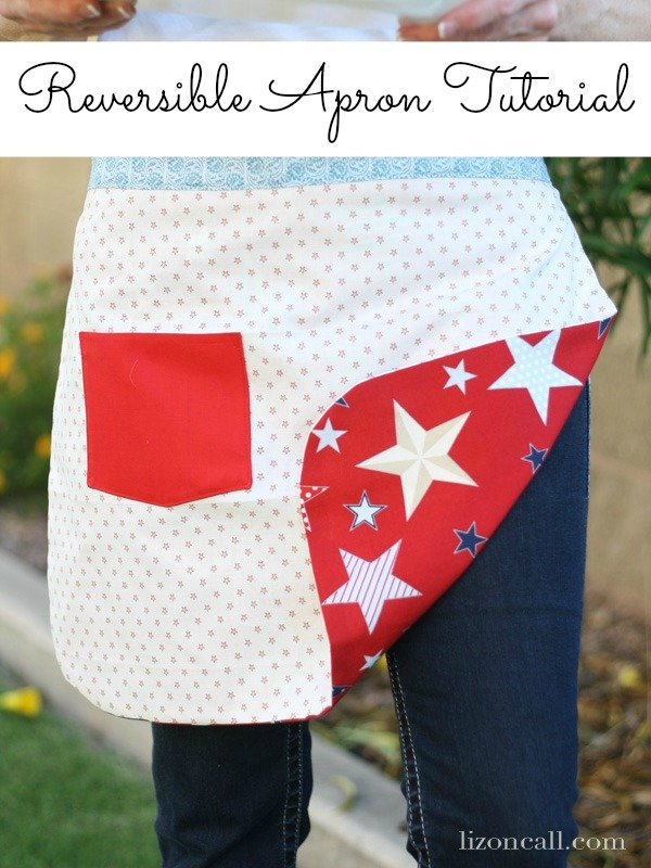 4th of July reversible apron tutorial - would be fun for any holiday and would make a great gift for your apron loving friends