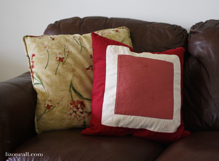 Give new life to an old pillow by adding your favorite saying or song with heat transfer vinyl.  It's so easy!