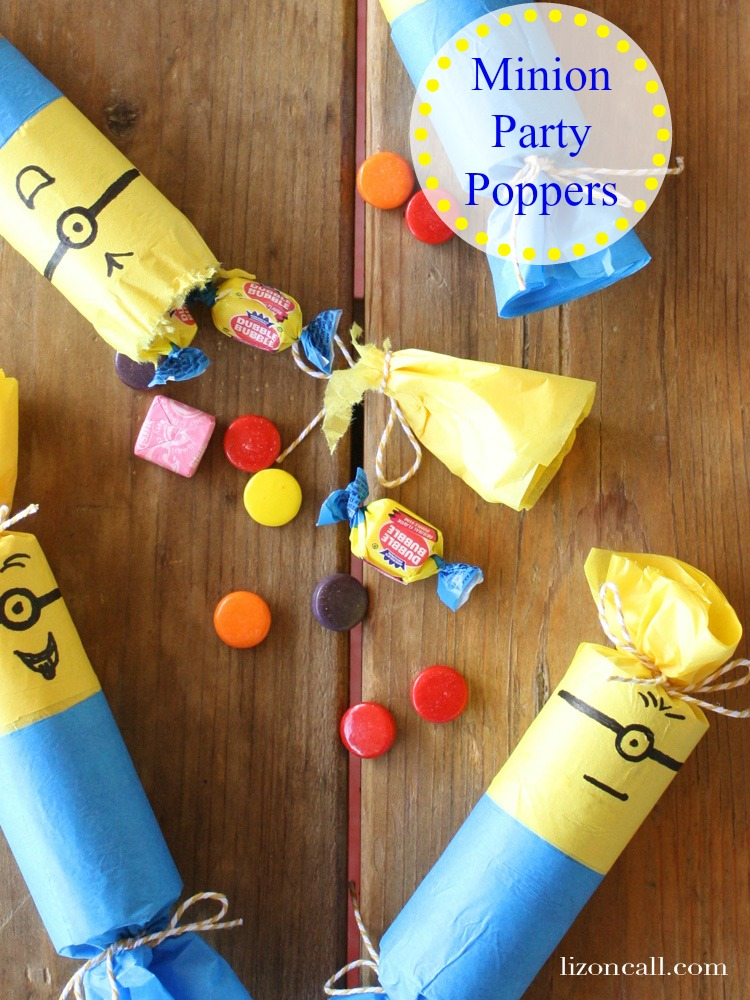 These DIY Minion Party poppers will be a hit with the kids at your party