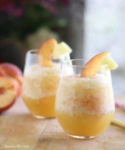 Tropical Peach Punch Slush