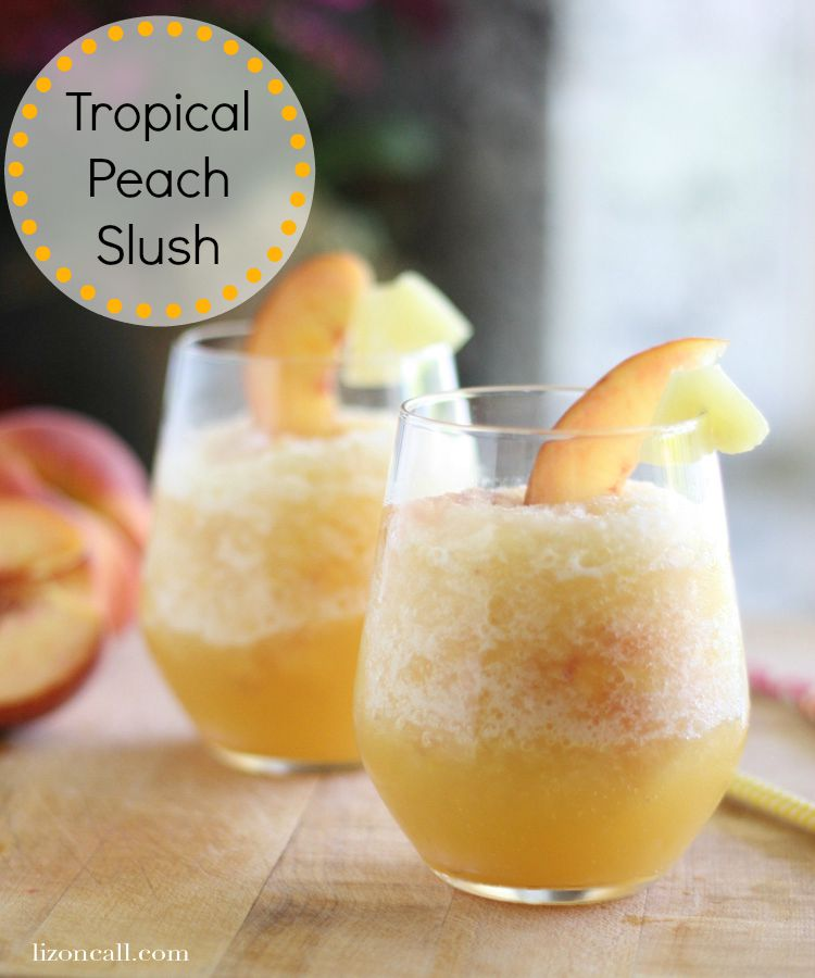 titled image (and shown): Tropical Peach Slush