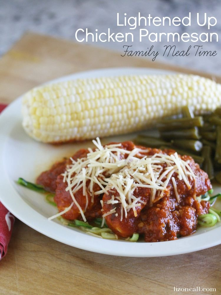 a lightened up version of one of your favorite meals - chicken parmesan recipe