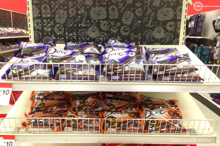 Dove halloween chocolate eyes and pumpkins available at Target