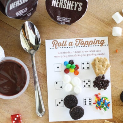 Roll a Topping Snack Time Printables