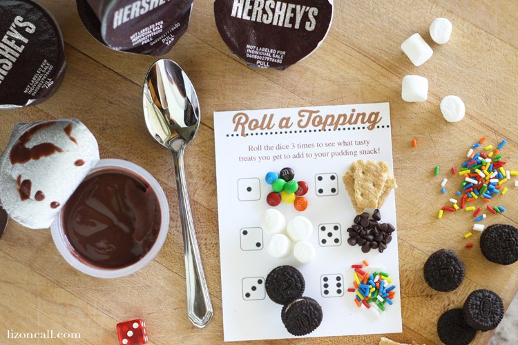 Roll a topping snack time printables to make after school snacking more fun!
