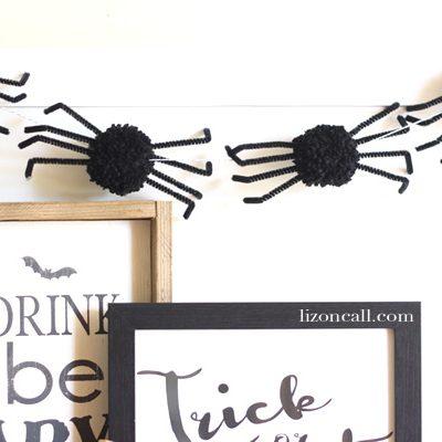 Pom Pom Spider Garland