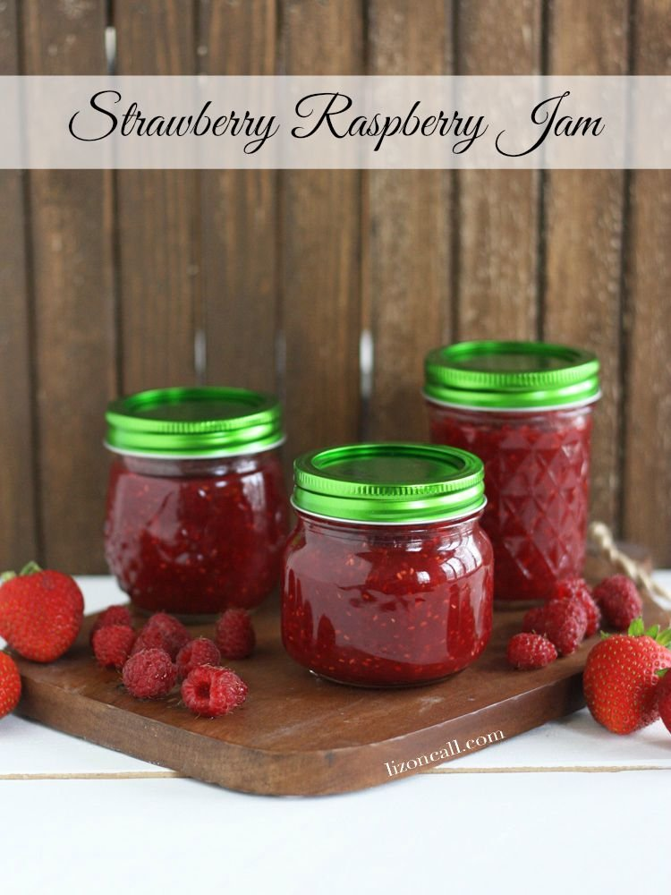 Homemade strawberry raspberry jam. you can store this jam on your pantry shelf.