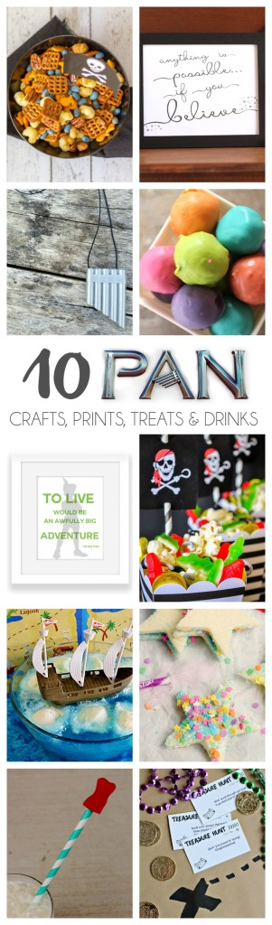 10 PAN movie crafts, printables, treats and drinks. Perfect for celebrating the new PAN movie.