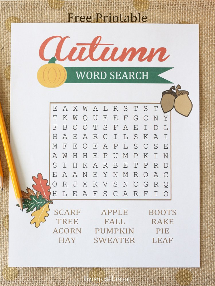 Current image for free printable word searches for kids