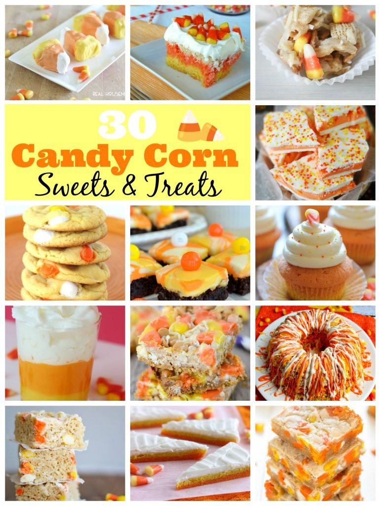 30 candy corn inspired recipes, sweets and treats to celebrate the Halloween season.
