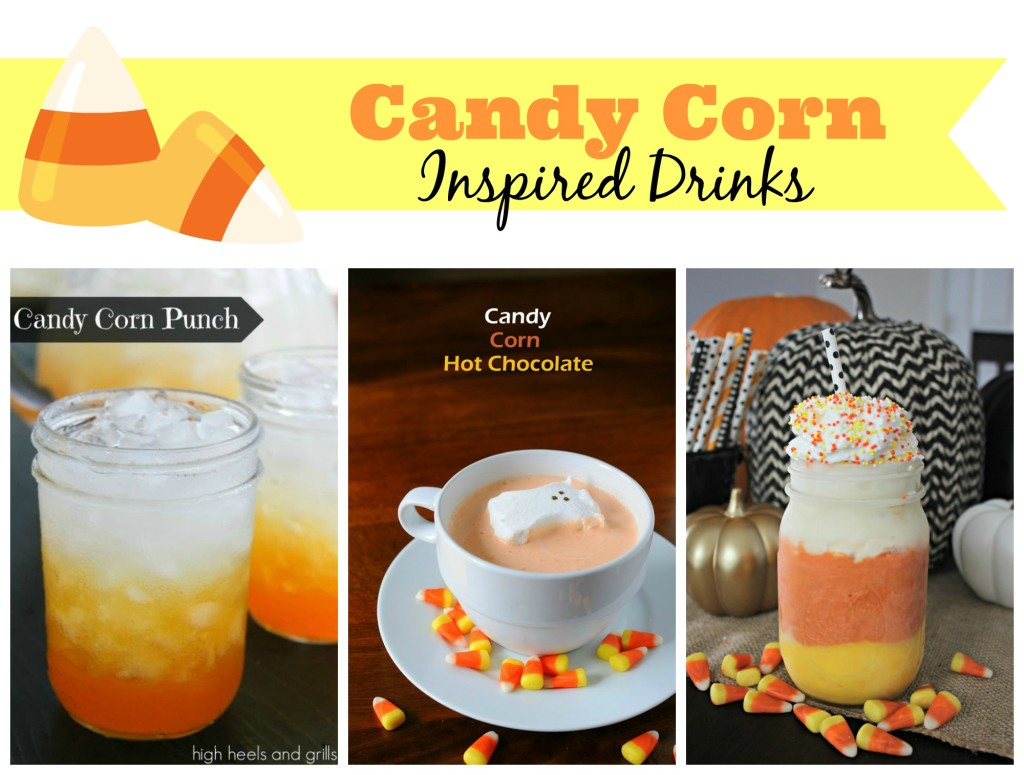 Candy Corn inspired drinks along with 25 more candy corn recipes