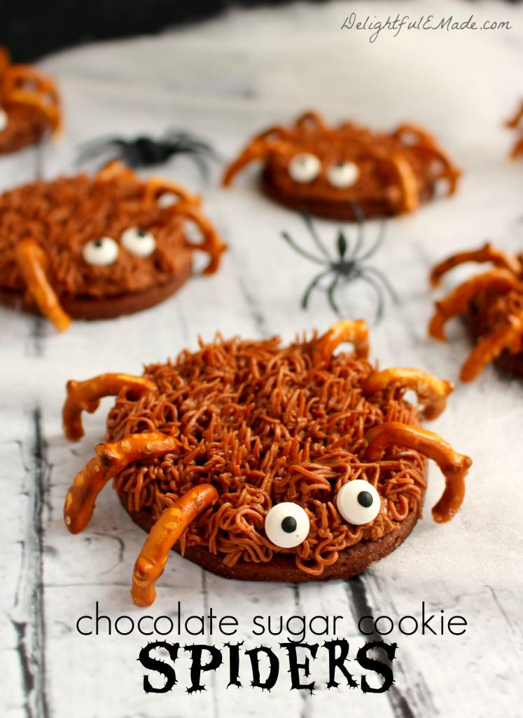 Chocolate-Sugar-Cookie-Spiders-by-DelightfulEMade.com-vert1-w-txt-747x1024