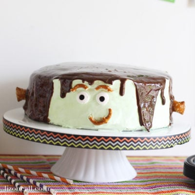 How to Make a Brownie Ice Cream Frankenstein Cake