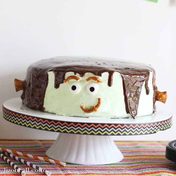 Make Frankenstein Cake your party guests will love! I turned a brownie ice cream cake into Frankenstein for our Monster Mash party blog hop.
