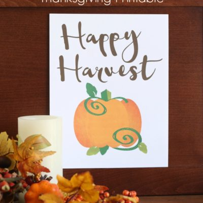 Happy Harvest Free Thanksgiving Printable