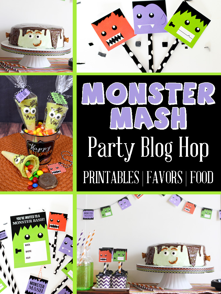 Monster mash party blog hop with free party printables, favor and food ideas