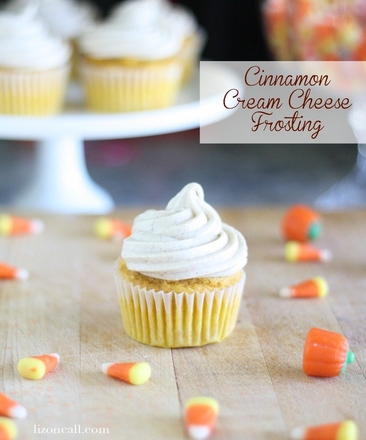 Easy and delicious homemade cinnamon cream cheese frosting is the perfect topping for all those fall baked treats.