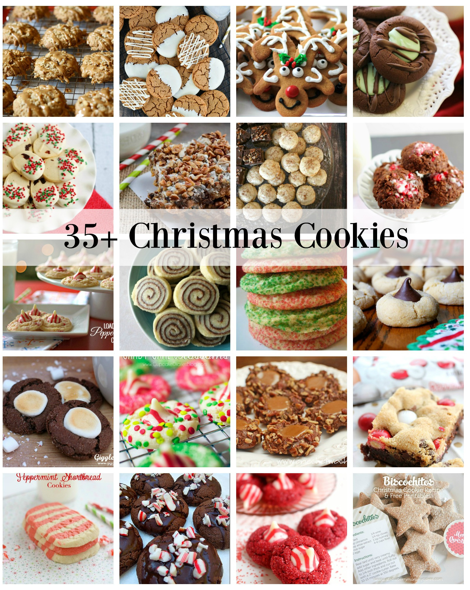 35 Christmas Cookie recipes perfect for goodie plates