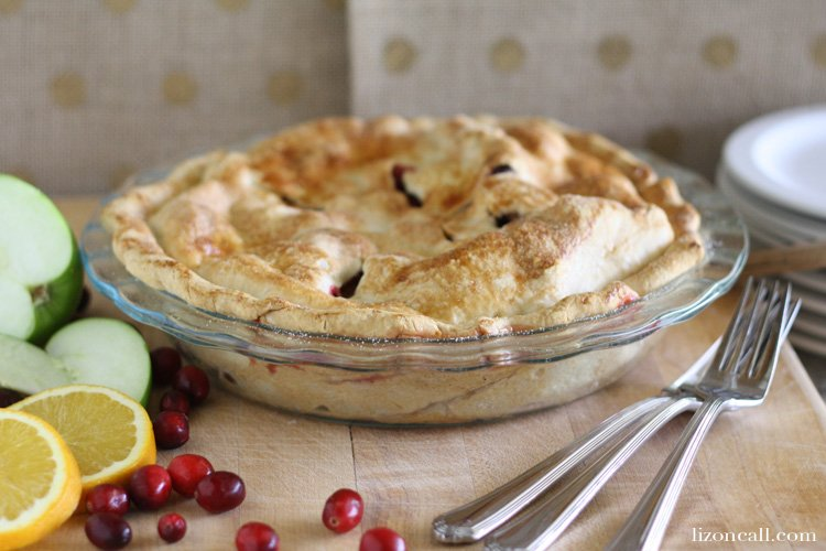 Cranberry Apple Pie recipe. Everything you love about the holidays in one pie.