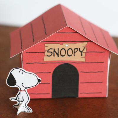 Printable Snoopy Dog House Kid Craft
