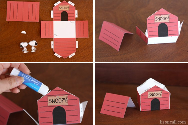 Printable Snoopy Dog House Kid Craft Liz On Call