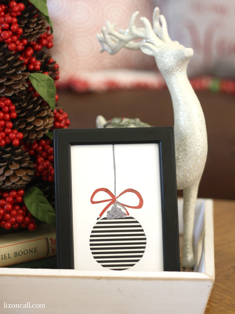 Create cute washi tape Christmas art with this tutorial and free printables.