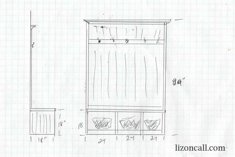 DIY Mudroom Bench Liz On Call