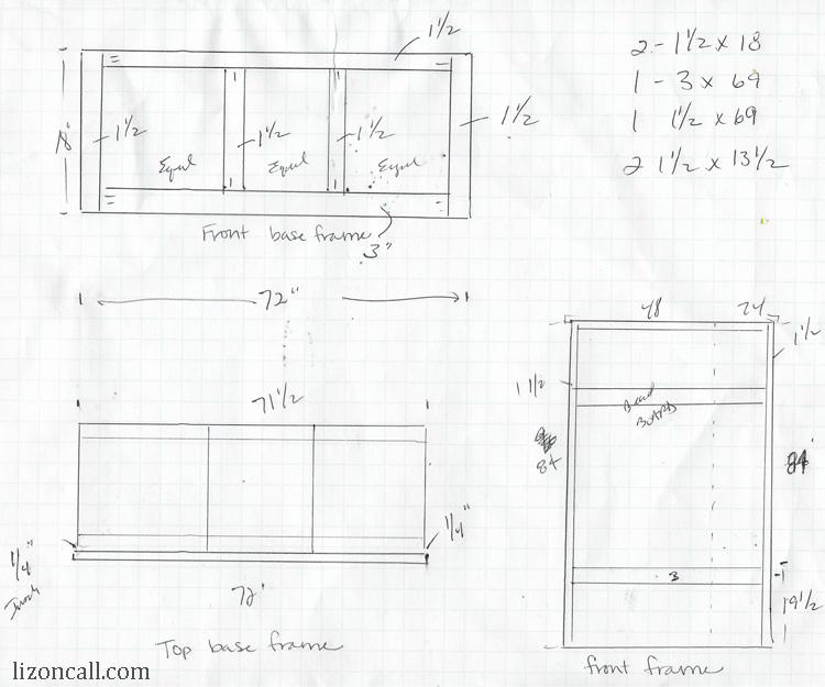 DIY mudroom bench plans - lizoncall.com
